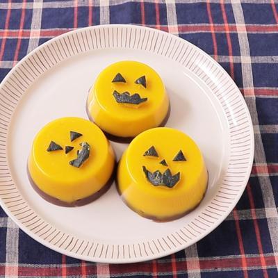 ハロウィンかぼちゃの二色羊羹