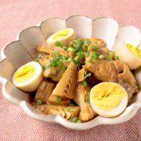 タケノコと鶏手羽のガーリックしょうゆ煮