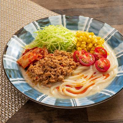 ピリ辛濃厚!彩り北海道野菜の冷やし担々うどん