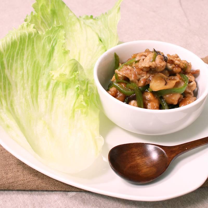 レタス 豚肉