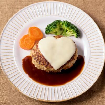 バレンタインに作りたい チーズインハンバーグ