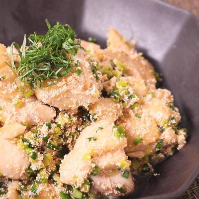 鶏肉のバター明太炒め