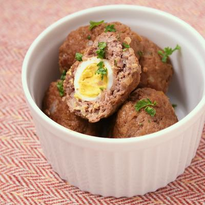 うずらの卵のコロコロハンバーグ