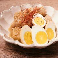 鶏つくねと卵の親子煮