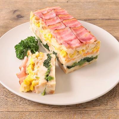 フランスパンで簡単おかずケーキ