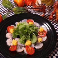 ホタテのカルパッチョ〜柿のソース〜