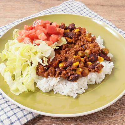 豆とひき肉のチリカレー