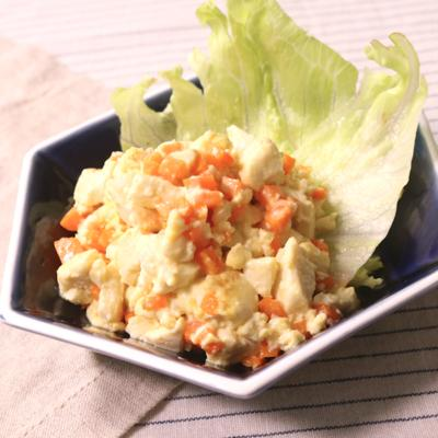 塩麹とマヨネーズの炒り豆腐