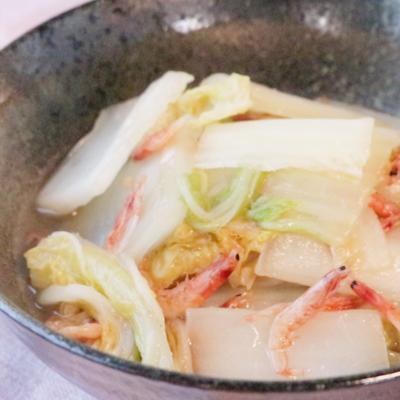 白菜と干しエビのあっさり煮