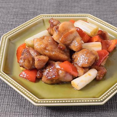 鶏もも肉と長ねぎの甘酢炒め
