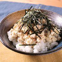ちくわと豆腐の納豆丼