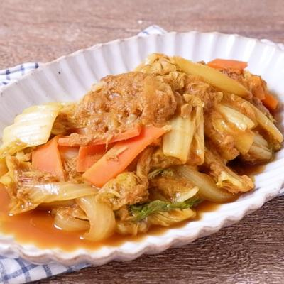 白菜とツナのカレー風うま煮