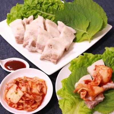 韓国料理!茹でポッサム