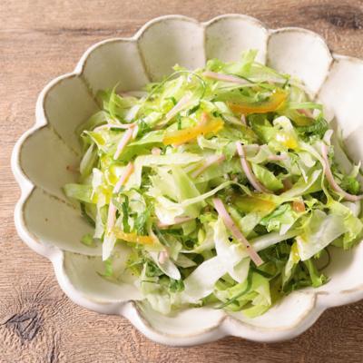 レタスと大葉のサラダ 柚子茶ドレッシング