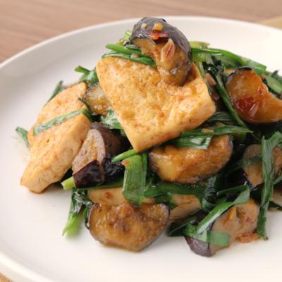 木綿豆腐と野菜の花山椒炒め
