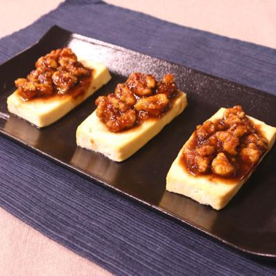 おつまみにぴったり!田楽味噌の豆腐ステーキ