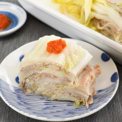 レンジで簡単 白菜と豚肉の重ね蒸し