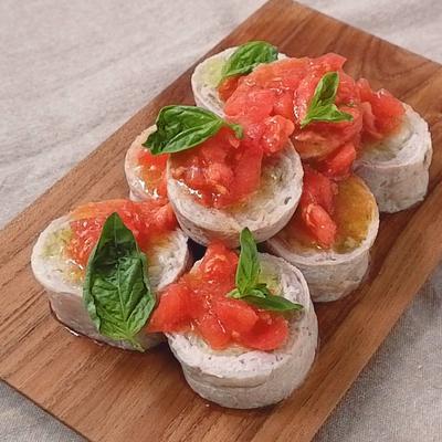 トマトソースで食べる レンジでキャベツの肉巻き