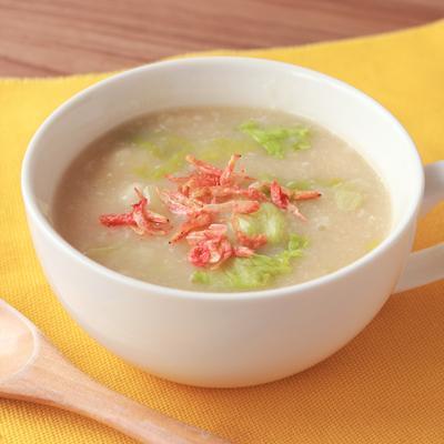 長芋とレタスの塩麹スープ