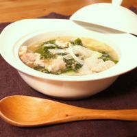 焼肉のタレで簡単!わかめと豚肉のスープ