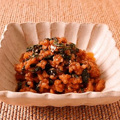 大葉入り肉味噌の常備菜