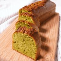 材料4つで簡単抹茶パウンドケーキ