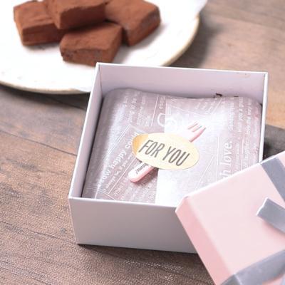 生チョコのボックスラッピング