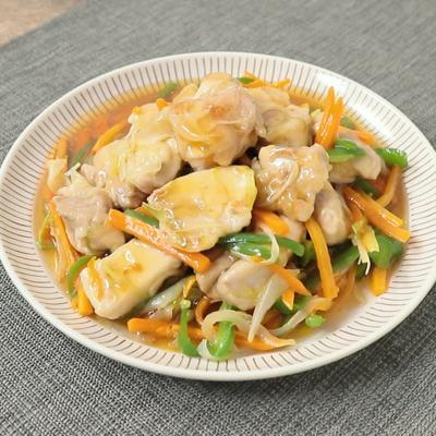 鶏肉と野菜の南蛮あんかけ