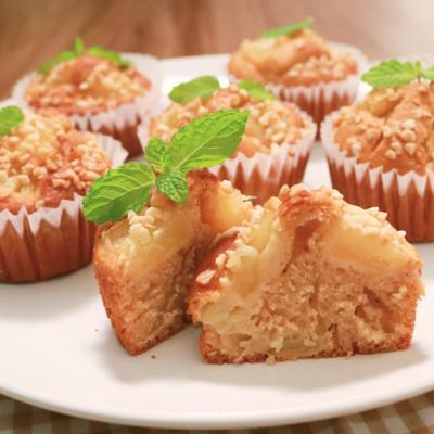 HMで簡単 パイナップルのカップケーキ