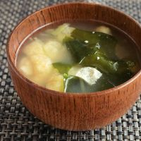 あったまる シャキシャキ生姜のお味噌汁