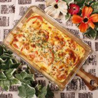 オーブンで簡単!たっぷりほうれん草のオーブンオムレツ