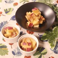 お子様の常備おやつ!さつまいもとりんごの甘煮
