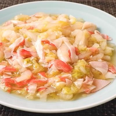 カニカマと白菜の中華風煮