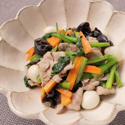 小松菜の八宝菜風炒め