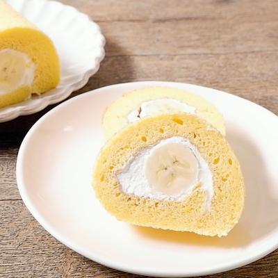 バナナの米粉ロールケーキ