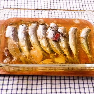 オーブンで手作りオイルサーディン