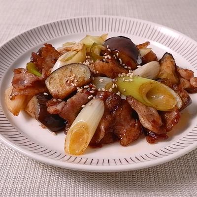 豚肉とナスのニンニク中華炒め