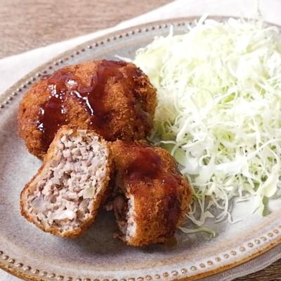 豚ひき肉で作る シンプルメンチカツ