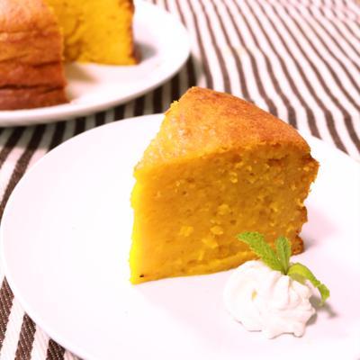 簡単しっとりかぼちゃのケーキ