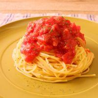 電子レンジで スパゲティ・ポモドーロ
