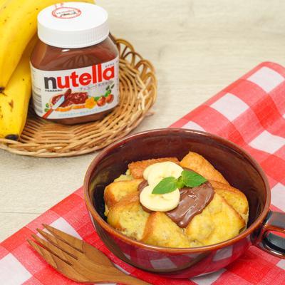 レンジで作る!ヌテラとバナナのマグカップフレンチトースト
