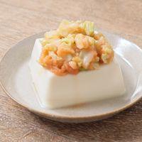 レンジで簡単 明太キャベツのせ豆腐