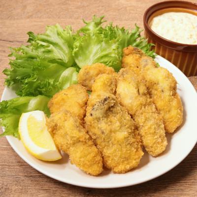 タルタルソースで牡蠣フライ