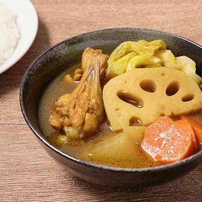 手羽元と野菜の和風スープカレー