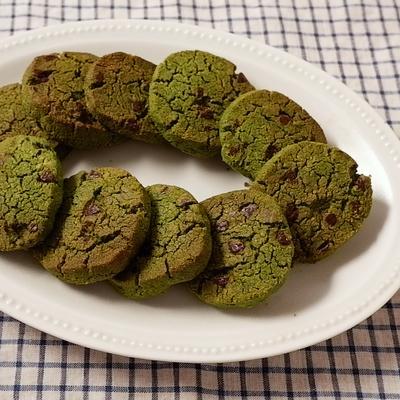 粉豆腐のチョコチップ抹茶クッキー
