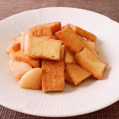 厚揚げと長芋のしょうゆ炒め