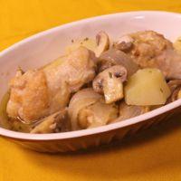 ポテトと手羽の白いカチャトゥーラ