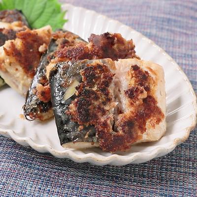 フライパンで簡単に サバの梅しそパン粉焼き