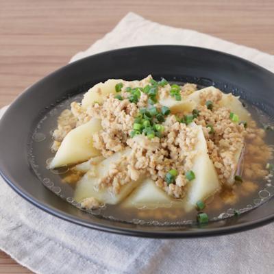 鶏ひきと長芋のゆず胡椒煮
