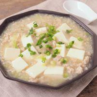 夜食にあっさり塩マーボー豆腐